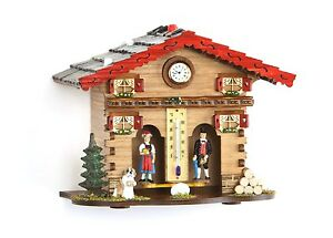 Weather-house-Black-Forest-with-clock-Made-in-Germany-wood-top-quality-NEW