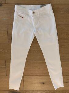 Diesel-White-Womens-Jeans-Waist-26