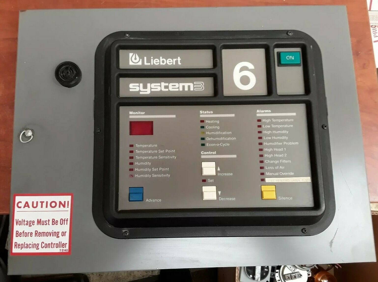 Liebert System3 S-6200 Operator Interface Display Label 6