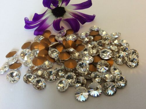 Rivoli PACK 12 Round CRAFT Post Free Rhinestones Preciosa Crystal 29ss 6.1mm