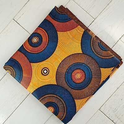 Ankara Superwax Africano Tela 100/% algodón colores vibrantes yarda 1 o 6 metros