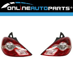 Replacement Tail Lights PAIR LH+RH for Nissan Tiida C11 Ser2 2009-on 5Dr Hatch
