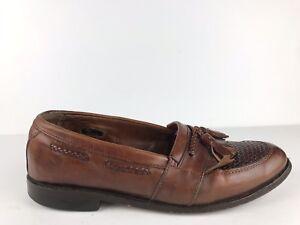 34e8103a397af Allen Edmonds Sz 8.5 D Cody Brown Leather Weave Tassel Kiltie Loafer ...