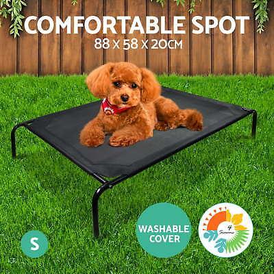 iPET Pet Bed Trampoline Dog Puppy Cat Heavy Duty Frame Hammock Mesh S M L