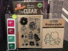 "Hero Arts ""FOR YOU FLOWERS"" Clear Stamps + Frame Cuts Dies + Mini Ink Pad Set"