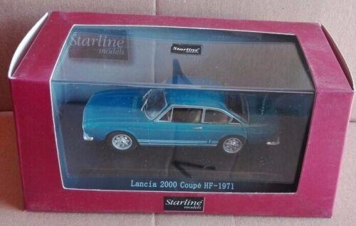 "DIE CAST /"" LANCIA 2000 COUPE/' HF 1971 BLUE VINCENNES /"" STARLINE SCALA 1//43"