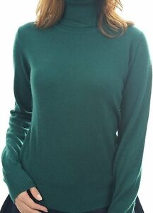 Dolcevita Cashmere Balldiri Pullover polsini Ladies 100 Xxxl con Englishgreen nIIfx1qr