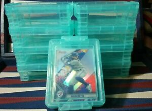 Baseball-Sports-Card-Storage-Vaults-New-For-Sleeved-Cards-Holds-50-TEAL
