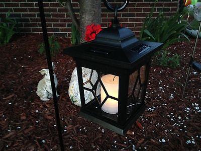 4 pack LED Solar Power Outdoor Hanging Venetian Black Lantern w/amber  Light