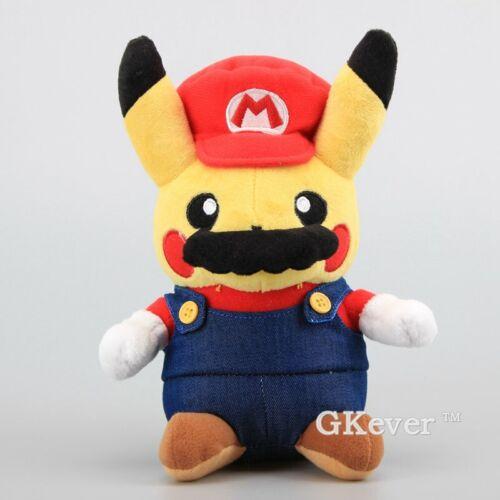 Plüsch Pikachu//Mario Costume// Pikachu Plüschtier 22cm Super Mario