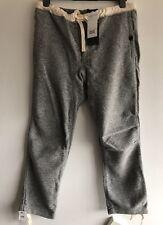 """TRAVI Plus Slim Fit Mix Cotone-Blend Twill Pantaloni Taglia L-w34"""" RRP £ 140"""