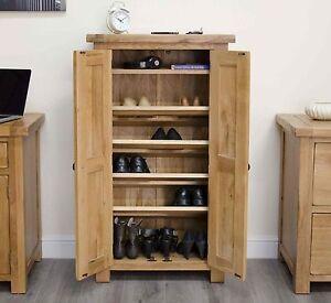 Image Is Loading Original Rustic Shoe Storage Cabinet Cupboard Unit Solid