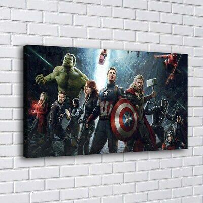 Spider Man VS Hulk Hot Movie Art Silk Canvas Poster 13x20 32x48 inch
