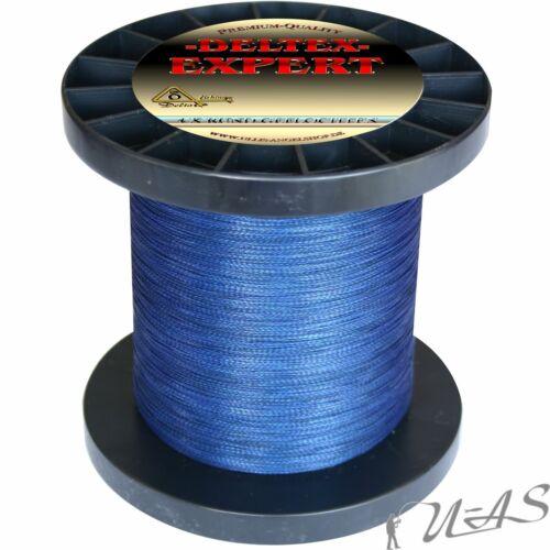 Deltex Expert Dunkel Blau 270M 4 X Rund Geflochtene Angelschnur Dyneema Pe Kva