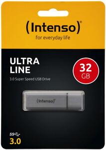 Intenso-USB-Stick-32GB-Speicherstick-Ultra-Line-silber-USB-3-0