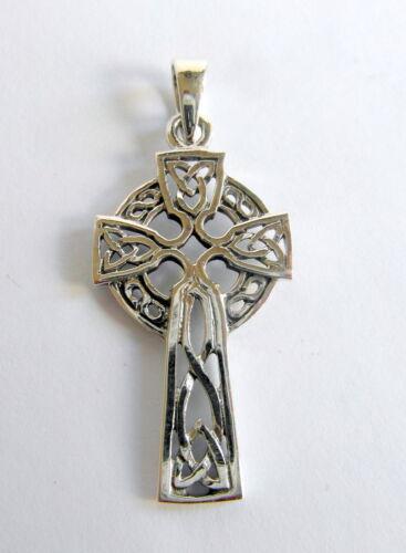 ! Brand  New ! 925 32  mm Sterling  Silver Celtic  Cross  Pendant