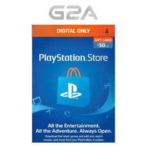 Playstation Network $50 USD Code - PSN 50 Dollar - PS4 PS3 PSP US Store Card USA