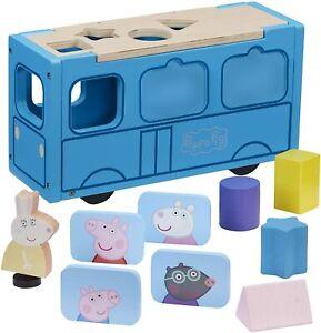 Peppa-Pig-Peppa-039-s-Bois-Ecole-Bus-amp-Bois-Action-Figurine-Ensemble-de-Jeux