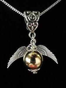 Golden /'Snitch/' Earrings Suit Harry Potter Fan Great Gift Silver Plated