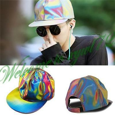 New Bigbang G-dragon Hologram Snapback BACK TO THE FUTURE Cap MARTY MCFLY Hats