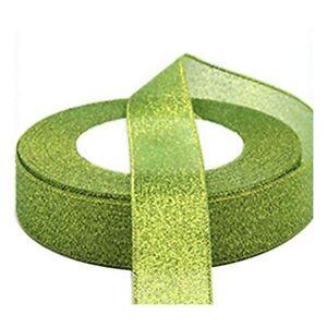22-Metres-25mm-Double-Sided-Satin-Glitter-Ribbons-Bling-Bows-Reels-Wedding-J3Q6