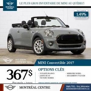2017 MINI Cooper CONVERTIBLE CLIENT MAISON IMPECCABLE 