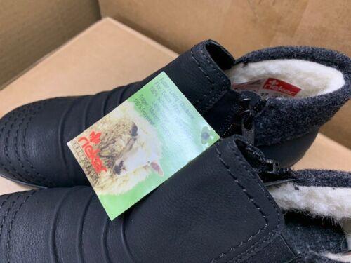 Rieker señora botas cálida, botas de invierno, forrajes fell, negro, talla 37, nuevo