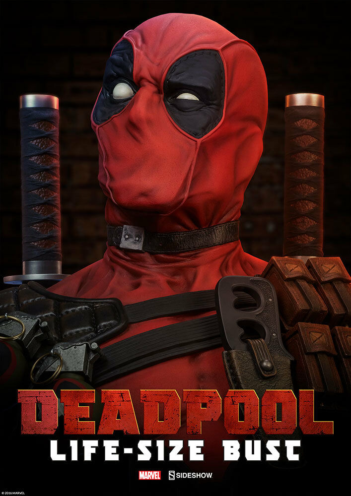 Marvel Comics X-men Deadpool Waten Wilson Life-Größe Büste 1:1 Sideshow Statue