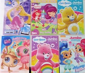 Details About Kids Jumbo Coloring Book Care Bears Shimmer Shine Lps Disney Princess You Choose