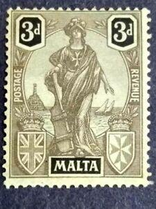 1926 Malta Allegorical 3d New Colour - 1v MH