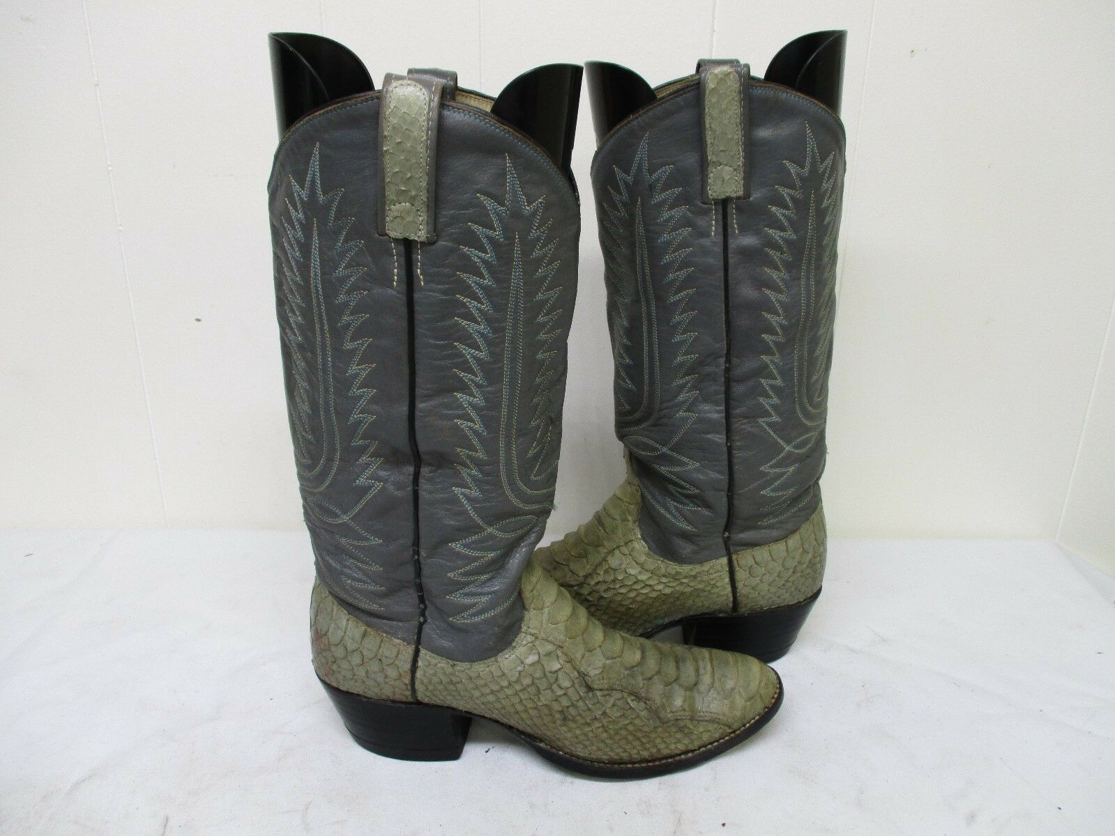 Dan Post Gray A Snake Leather Cowboy Boots Size 7 A Gray Style 6708 2237fe