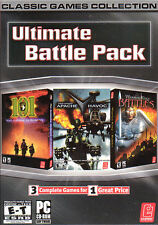 ULTIMATE BATTLE PACK 3x PC Games Warrior King Battles,Apache Havok,101st NEW