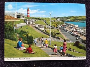 Used Postcard Devon Plymouth - The Hoe Terraces