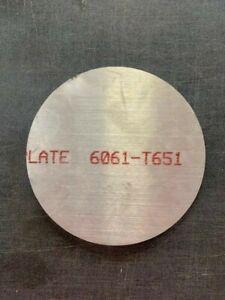 """5052 Aluminum Circle 1//8/"""" Round .125 Aluminum Disc x 3.70/"""" Diameter"""