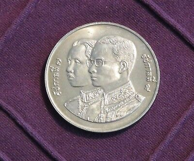 THAILAND 1993  10 BAHT 60TH ANNIVERSARY OF TREASURY DEPT UNCIRCULATED