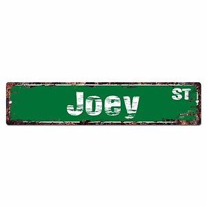 SMNS0307 JOEY Street Chic Sign Home Man Cave Wall Decor Birthday Gift