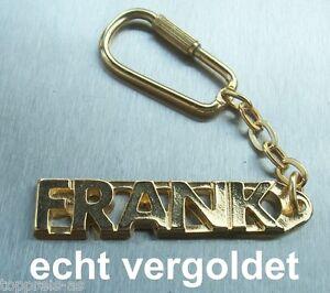 Edler SchlÜsselanhÄnger Frank Vergoldet Gold Name Keychain Weihnachtsgeschenk
