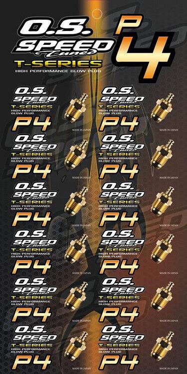 O.S velocidad Glow Plug P4 24k oro Para Turbo Turbo Turbo Motor 12 un.  Ahorre 35% - 70% de descuento