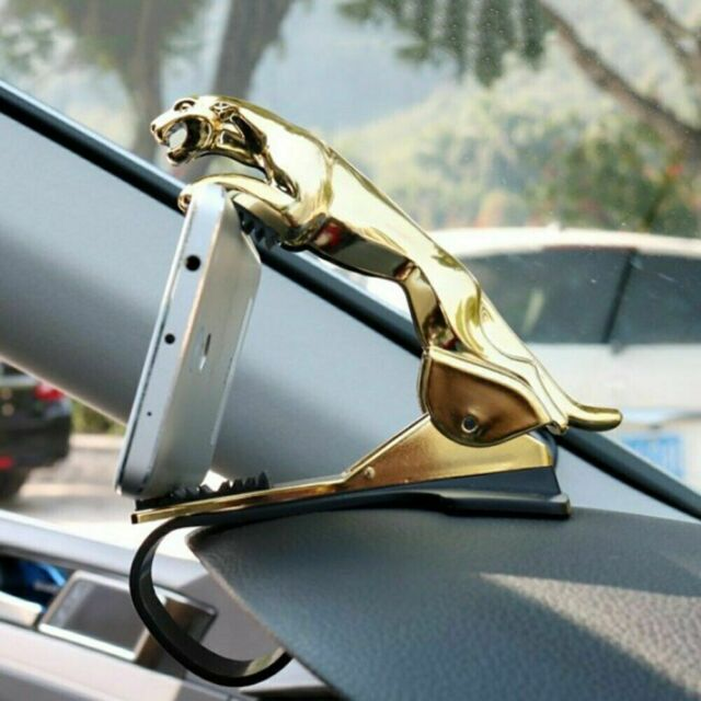 360 Degree Car Dashboard Phone Holder Cell Mount Stand Bracket Leopard Shape