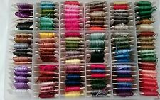 Lot of 122 Embroidery Cross Stitch Thread Floss in Case