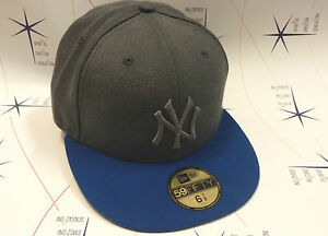Cappello-New-Era-Hip-Hop-59FIFTY-yankees-ny-nfl-originale-grigio-royal