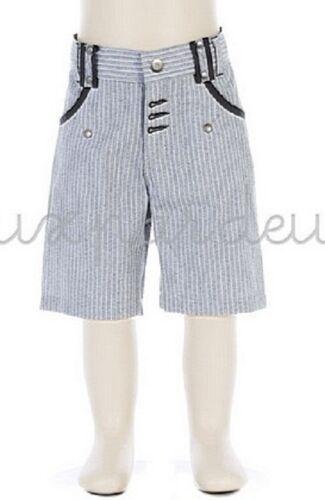 NWT DEUX PAR DEUX STRIPPED BERMUDA SONGE DUNE boys grey shorts 5y 6y 7 8 10y N27