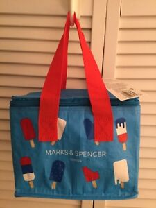 eecd93de79f5 Details about M&S Insulated small lunch bag Eco Bag Marks Spencer British  Summer New