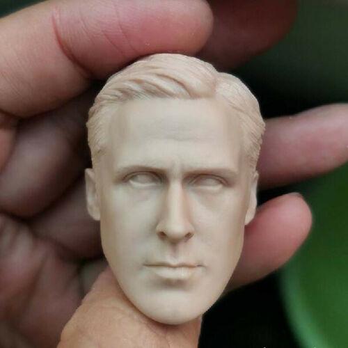 """Blank 1//6 Scale 12/"""" Blade Runner Ryan Gosling Head Sculpt Unpainted Fit Figure"""