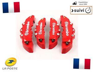 4-Cache-Etrier-de-Frein-Avant-et-Arriere-3D-Universel-Rouge-FRANCE