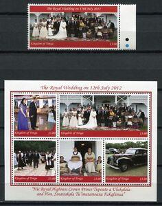 Tonga-2012-Koenigliche-Hochzeit-Royal-Wedding-Koenigshaus-Postfrisch-MNH