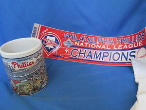 MLB-Philadelphia-Phillies-1983-World-Series-Coffee-Mug-Plus-1993-Bumper-Sticker