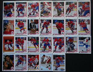 1990-91-Upper-Deck-UD-Montreal-Canadiens-Team-Set-of-26-Hockey-Cards