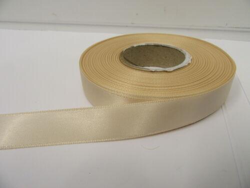 2 metres or a Full Roll 15mm Satin Double Sided Ribbon 15 UK VAT Reg 25 mtrs
