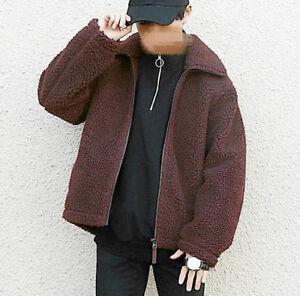 UNIQLO AW19 Faux Shearling Fur Pile Fleece Lined Teddy Coat Jacket Beige S M L